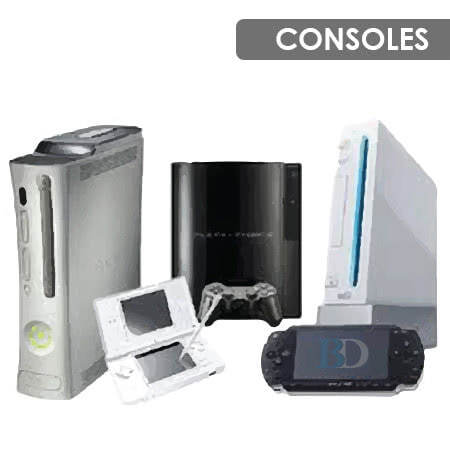 Gaming Consoles Playstation, Xbox, Wii, PSP, Wii U, Xbox 360, Xbox One, PS2, PS3, PS4