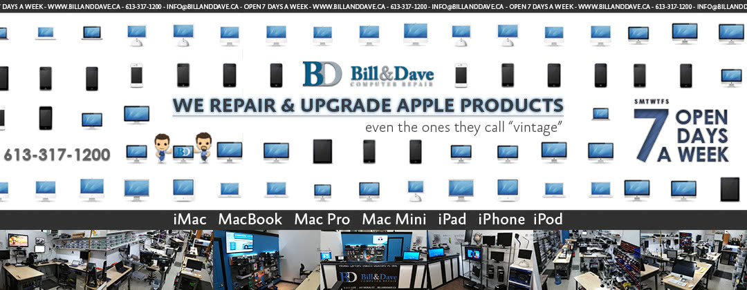 iMac Repair, iMac Upgrades, MacBook Repair same day service available