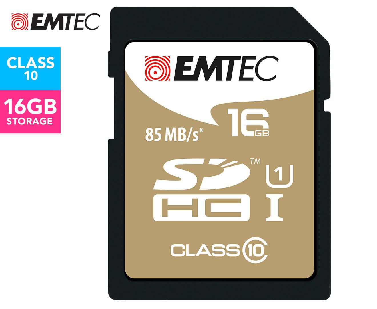 EMTEC SDHC Class 10 Gold+ 16GB SD Card