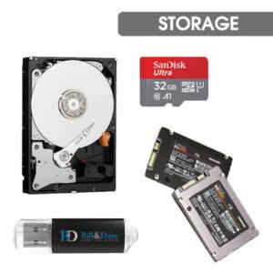 Storage (HDD/SSD/USB/FLASH)